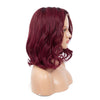 TOP quality virgin hair wine red body wave bob lace wig