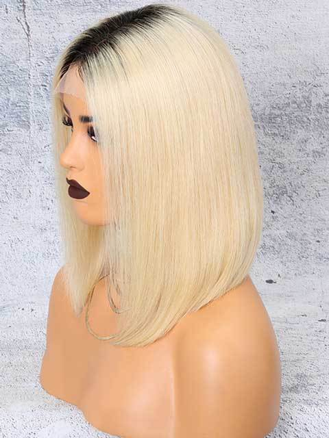Brazilian Full Lace Human Hair Wigs Remy Blonde Bob Hair