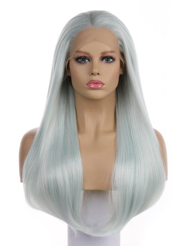 April Light Green Long Synthetic Lace Front Wig