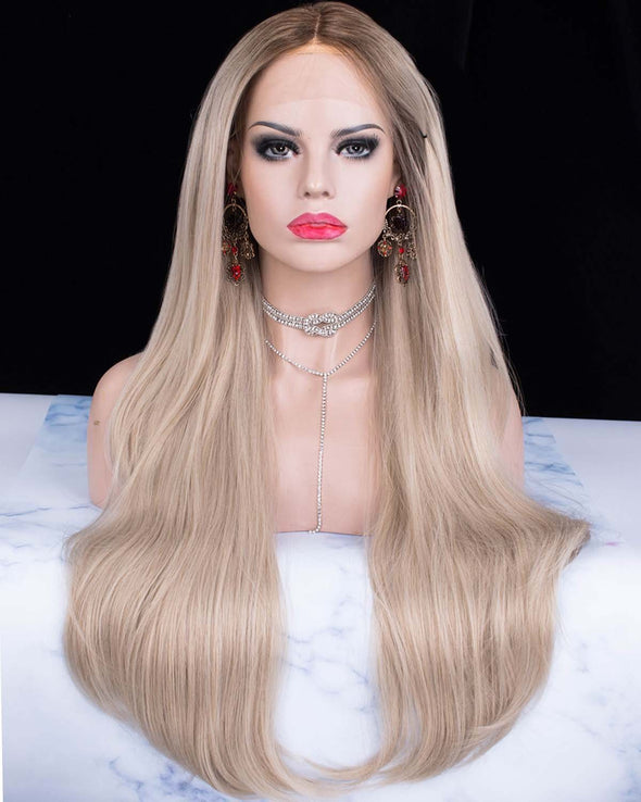 Gorgeous Caramel Blonde Synthetic Lace Front Wig