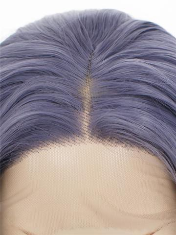 Lividity Grey Wave Long Synthetic Lace Front Wig