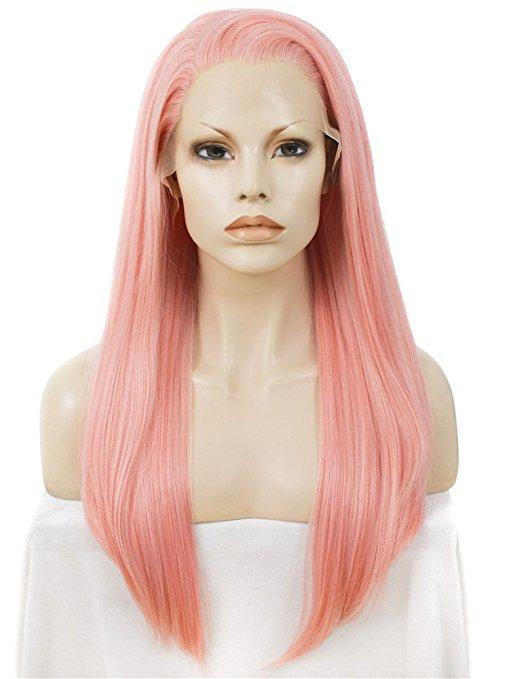 Long Plumeria Rubra Minium Synthetic Lace Front Wig