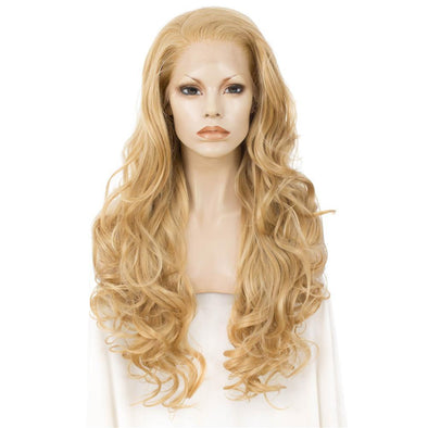 Blonde Natural Wavy Synthetic Lace Front Wig