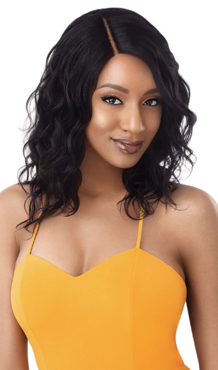 Outre 100% Unprocessed Human Hair Lace Part Daily Wig CURLY 16""