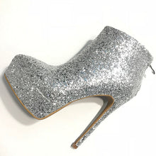 Load image into Gallery viewer, Glitter Silver Boots Women Shoes High Heels HZS0218