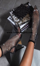Load image into Gallery viewer, Sparkle Black High Heels Women Shoes HZS0129