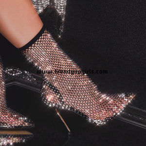 Sparkle Black High Heels Women Shoes HZS0129