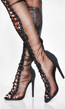 Load image into Gallery viewer, Spring Black Lace-up Boots Women Shoes Heels HZS0209