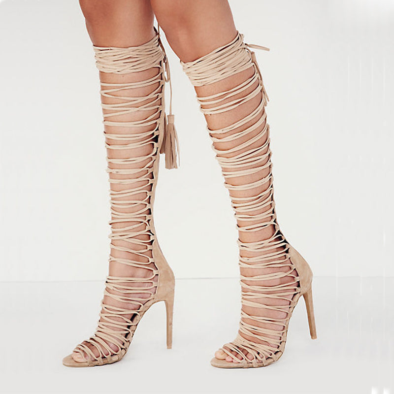 Strapped Boots High Heels Women Shoes HZS0200