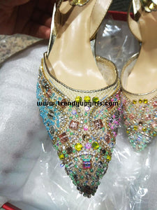 Colorful Beading High Heels Women Sandals Shoes HZS0118