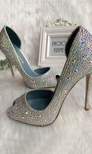 Load image into Gallery viewer, Sparkly Silver High Heels Women Shoes HZS0214