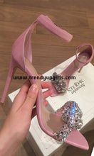 Load image into Gallery viewer, Sparkle Sandals High Heels Women Shoes with Rhinestone HZS0167
