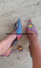Load image into Gallery viewer, Colorful Beaded Sandals High Heels Women Shoes HZS0171