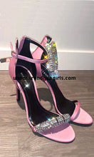Load image into Gallery viewer, Pink Sparkle Sandals High Heels Women Shoes HZS0169
