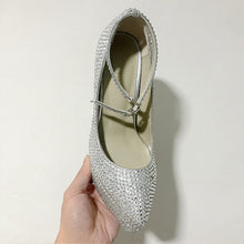 Load image into Gallery viewer, Silver Beaded Glitter Women Heels Wedding Shoes HZS0221