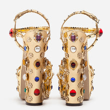 Load image into Gallery viewer, Gold Christal High Heels Women Shoes HZS0234