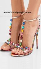 Load image into Gallery viewer, Multi Color Sandals High Heels Women Shoes HZS0193