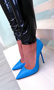 Blue High Heels Women Shoes HZS0206