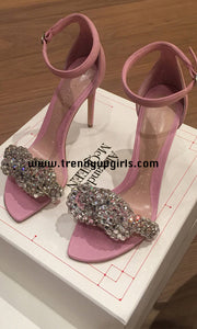 Sparkle Sandals High Heels Women Shoes with Rhinestone HZS0167
