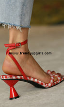 Load image into Gallery viewer, Red Sandals Heels Women Shoes HZS0195