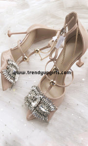 Nude High Heels Women Shoes with Rhinestone HZS0180