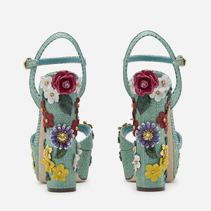 Luxury High Heels Women Shoes with Flowers HZS0233
