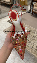 Load image into Gallery viewer, Beaded Lace Sandals High Heels Women Shoes HZS0189