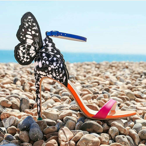 Sandals High Heels Women Shoes with Butterfly HZS0238