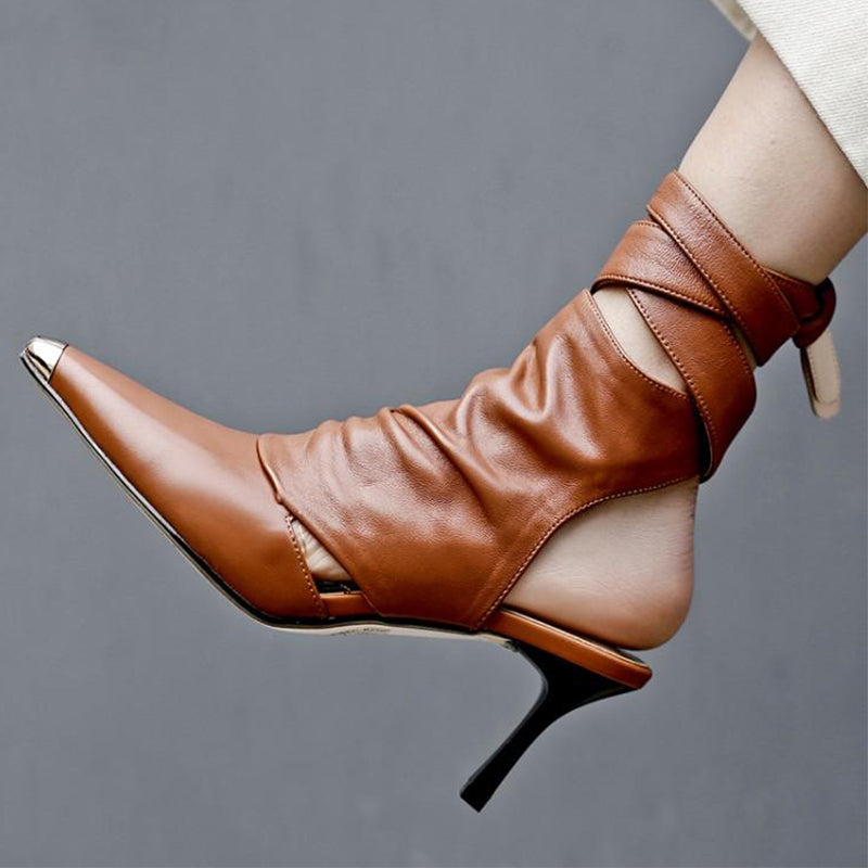 Ankle Strap Women Shoes High Heels HZS0230