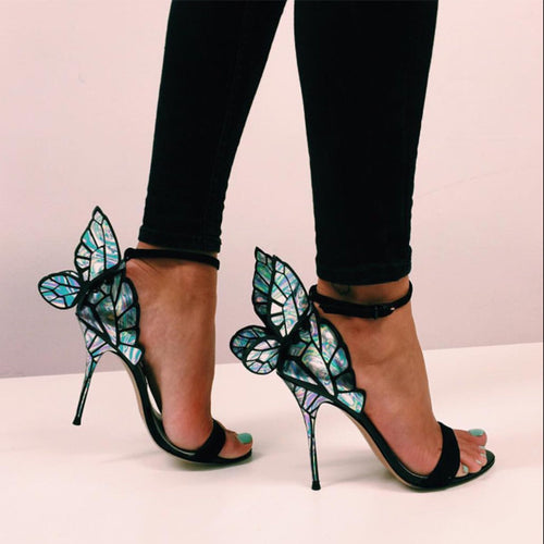 Sandals High Heels Women Shoes with Butterfly HZS0239