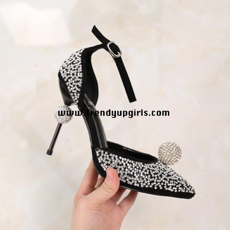 Beaded Sandals High Heels Women Shoes for Prom HZS0158