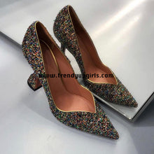 Load image into Gallery viewer, Sparkly High Heels Women Shoes HZS0134