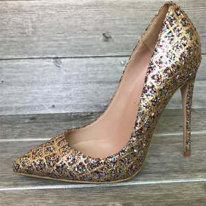 Sparkly High Heels Women Shoes HZS0213