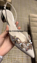 Load image into Gallery viewer, Beaded Summer Sandals High Heels Women Shoes HZS0157