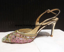 Load image into Gallery viewer, Colorful Beading High Heels Women Sandals Shoes HZS0118