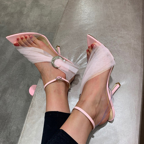 Pink Sandals Women Shoes High Heels HZS0229