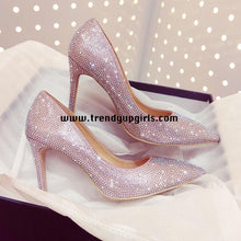 Load image into Gallery viewer, Sparkle High Heels Women Wedding Shoes HZS0103