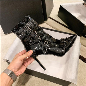 Black High Heels Women's Boots HZS0102