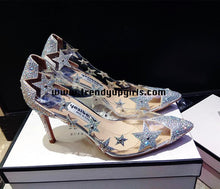 Load image into Gallery viewer, High Heels Women Shoes with Beads Stars HZS0109