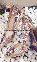 Load image into Gallery viewer, High Heels Women Sandals Shoes with Flowers HZS0121