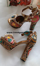 Load image into Gallery viewer, Luxury Embroidery High Heels Women Shoes with Christal HZS0123