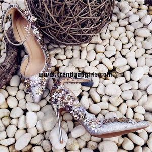 High Heels Women Sandals Shoes with Flowers HZS0121