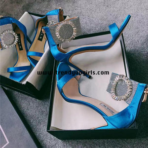 High Heels Women Sandals Shoes with Rhinestone HZS0126