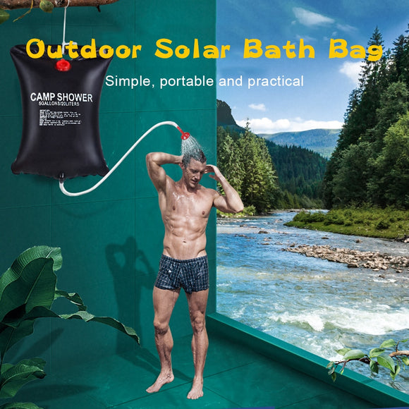 20L Portable Solar Heating Water Bag Energy Bath Outdoor Camping Picnic Hiking Storage Bag Take shower Adjustable Water Volume