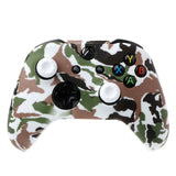 Camouflage Silicone Gamepad Cover + 2 Joystick Caps For XBox One X S Controller