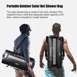 20L Camping Solar Shower Bag Portable Solar Bathing Heating Bag BBQ Picnic Water Bag For Outdoor Travel Hiking Camping Water Bag