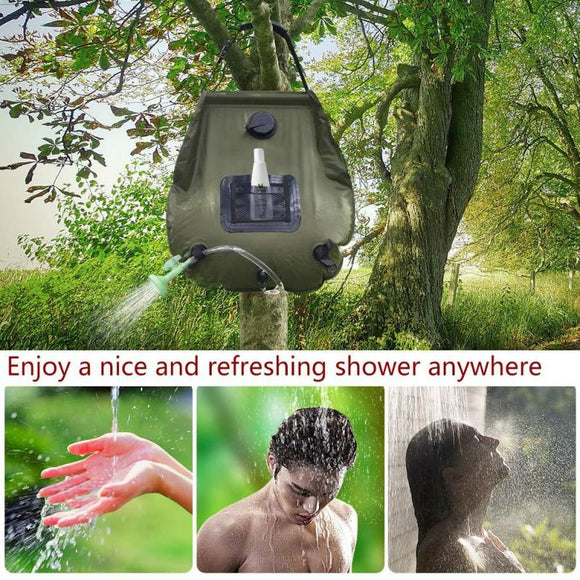 20L Solar Shower Bag With Storage Bag Solar Large Capacity PVC Bath Water Bag Upgraded Shower Head For Outdoor Hiking Camping