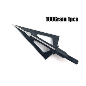 1pcs Broadheads 100gn-125gn Arrows Tips Arrow Heads for Archery Hunting Apply To Compound Bow Crossbows and Recoil Arrow