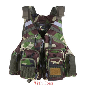 Outdoor Sport Fishing Vest Men Breathable Swimming Life Jacket Safety Waistcoat Survival Utility Hunting Vest Colete Salva-Vidas