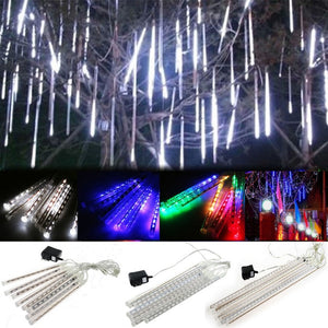 30cm /50cm Waterproof Meteor Shower Rain 8 Tube LED String Lights For Outdoor Holiday Christmas Decoration Tree EU/US/AU/UK Plug